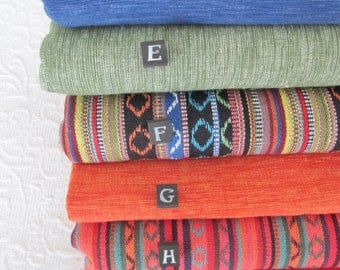 Yoga mat bags - Amazing woven cotton fabrics - made to order - great texture & strength 100% cotton.