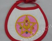 Sailor Moon R Crystal Locket Embroidered Bib