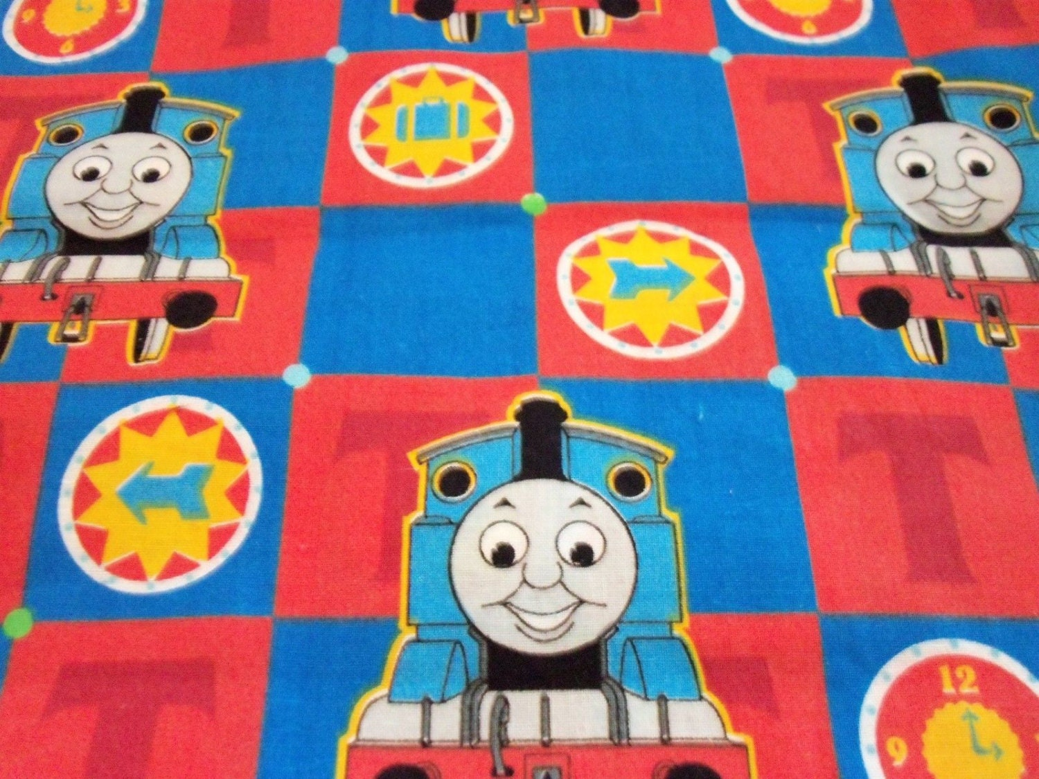 Thomas the train fabric by the fat quarter btfq by majek150 for Train fabric by the yard