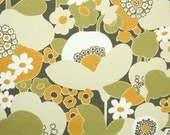 Retro Wallpaper by the Yard 60s Vintage Wallpaper - 1960s Green and Orange Mod Floral with Poppies and Daisies