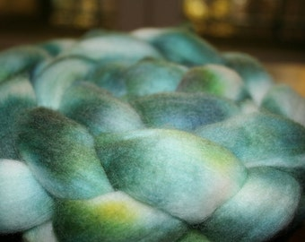Spinning Wool Merino Fiber Kettle Dyed Hand Dyed Top Roving 4 oz 113g OOAK Colorway International Shipping - Land of Zeal