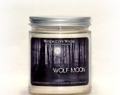 Soy candle, soy candles handmade, soy wax candle, scented soy candles, hand poured soy candles, wolf moon candle, 9oz jar candle