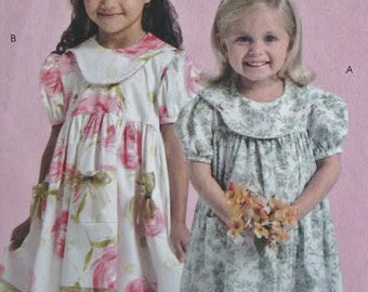 Easy McCalls 5305 Child Girl Toddlers Sewing Pattern Ruffles and Lace Treasured Collection Dress Size 1 2 3