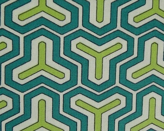 Sayr Teal Cotton Duck Fabric sold-by-the-yard