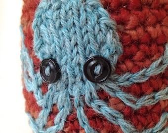 Crochet Mason Jar Cozy -- Octopus Hug