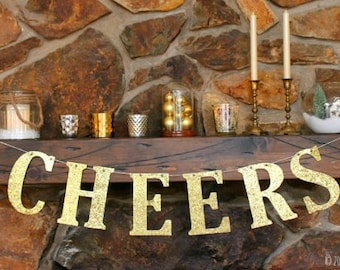 CHEERS banner, Christmas Party Decor, Holiday Decor, New Year's decoration