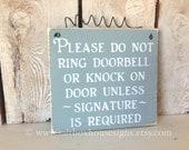 Signature Required  Door Sign