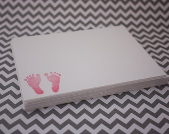 Baby Feet Flat Notecards with envelopes  - Set of 12