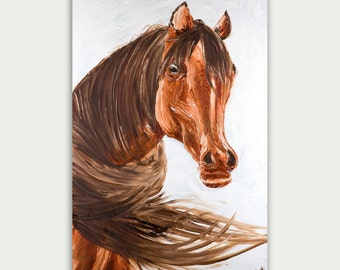 Original Figurative Oil Painting Horse Painting On Canvas