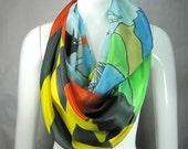 """Maryland silk scarf, 14""""x70"""""""