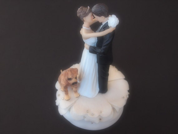 wedding cakes pei cake topper wedding ivory and groom shar pei 25235