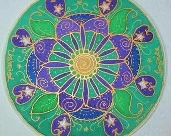 mandala art, spiritual gift, Infinite Possibilities Unlimited Potential, mandala,spiritual art,metaphysical,silk mandala,silk art,meditation