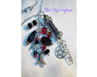 The Morrighan Amulet / Necklace Created to Order to Honor the Goddess