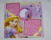 Disney Princess Tangled Rapunzel 12x12 Premade Scrapbook Page by KARI