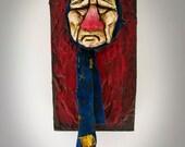 Reed - Polymer Clay, Wood, Handmade Sculpture Art.