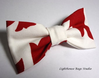 Bow Tie - Red & White