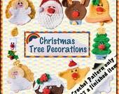 PDF Crochet Pattern Christmas Tree Decorations