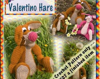 PDF Crochet Pattern Valentino Hare