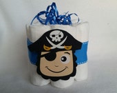 Pirate Mini Diaper cake, great decoration, baby shower or new baby gift.