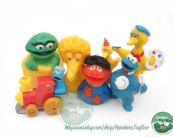 CLEARANCE Vintage Sesame Street Toys Lot of 7