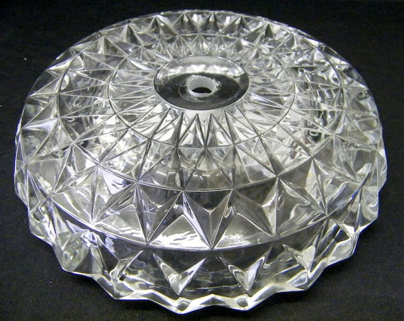 Vintage Glass Lamp Base For Parts Use Repair Restoration
