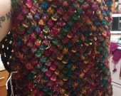 RESERVED for Jude: Hand Knit Rainbow Cowl