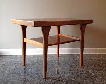Mid Century / Danish Modern - Two Tier Side Table