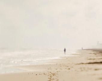 Beach photography, ocean art, beach wall art, pastel decor, blue white, shore, nautical nursery art,seascape,nature art print,fine art print