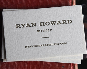The Writer – Custom Letterpress Printed Calling Cards 100ct