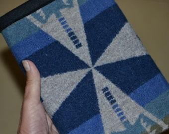 Tribal iPad mini Case cover sleeve blues and sage Native American design wool - iPad mini 1 2 3 4 accessories electronics cases