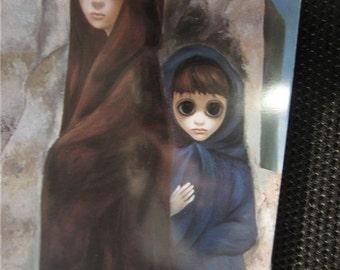 Vintage 1960s Walter Keane Sisters of Seville Big Eyed Girls Greeting Card Kitsch printed in Japan