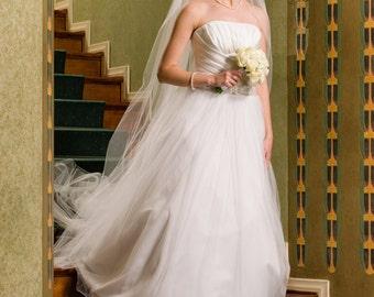 Ariana Classic Bridal Veil Chapel Length