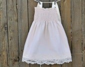 Lace Flower Girl Dress...Rustic flower girl... Cream, Ivory or White... Eco-friendly...6m,9m,12m,18m,2t,3t,4t,5,6,7,8