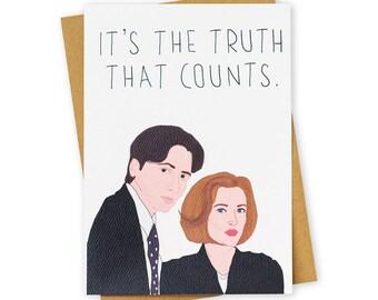 EXTRATERRESTRIAL . X Files . Greeting Card . Friendship . Kraft Envelope
