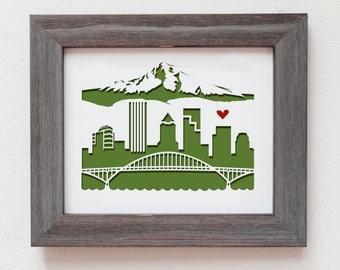 Portland, Oregon.  Personalized Gift or Wedding Gift