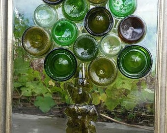 Custom Made Bottle Tree Wine Bottle Mosaic