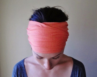 CORAL Head Scarf - Extra Long Hair Wrap - Extra Wide Headband - Lightweight Yoga Headband - Womens Hair Accessories - Workout Accessory
