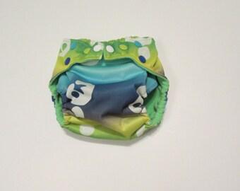 Pocket Palz Pocket Diaper in Breastfeeding print with engraved breastfeeding snaps