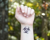 Temporary Tattoo - Biohazard Symbol
