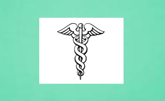 Temporary Tattoo Caduceus Medical Symbol by SymbolicImports