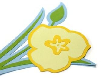 Sego Lily die cuts - 1 die (5.5 in.) - Utah State Flower - choose your own colors (C43)