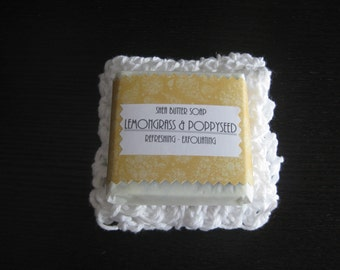 Shea butter soap and washcloth gift set.