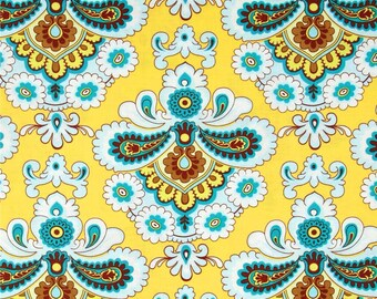 11233 Amy Butler  Belle collection French Wallpaper in mustard  cotton Fabric - 1 Yard