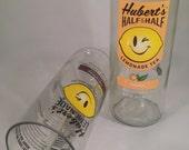 Hubert's Lemonade & Lemonade Tea Recycled Bottle Glass - Set of 2