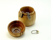 """Hand Turned Box in Salvaged Red Maple Wood: 2.25"""" Diameter by 2.75"""" Tall."""