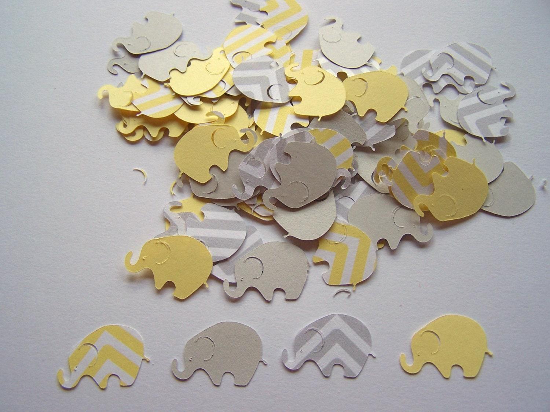 elephant baby shower 300 yellow gray chevron by heatherleascrafts