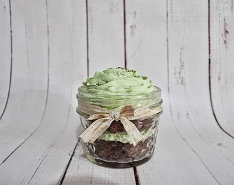 Fake Mint Chocolate Cupcake In A Jar