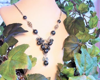 Long Tahitian Crystal Pearl Necklace