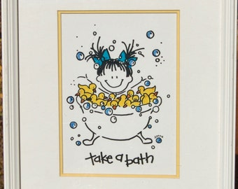 Take A Bath Print  Wash Your Hands by Donna  Set of 2