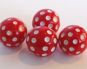 Retro Red Hot Dots E208